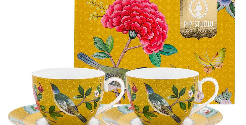 Set/2 Xícara de Chá Amarelo - Blushing Birds