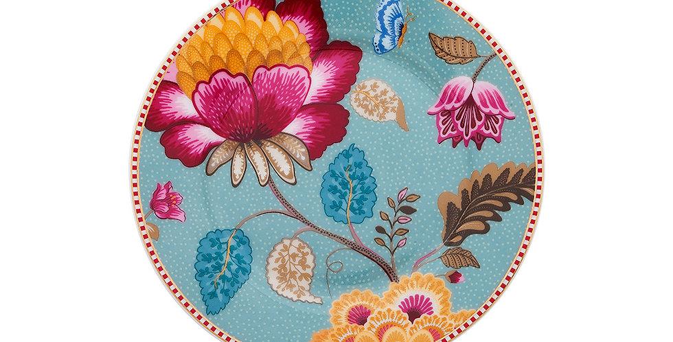 Prato de Pão Azul - Floral Fantasy