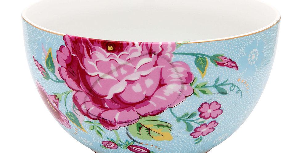 tigela azul decoração flores porcelana holandesa