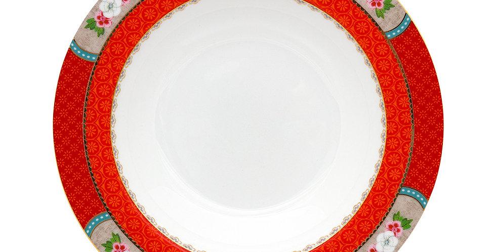 Prato de Sopa Vermelho - Blushing Birds