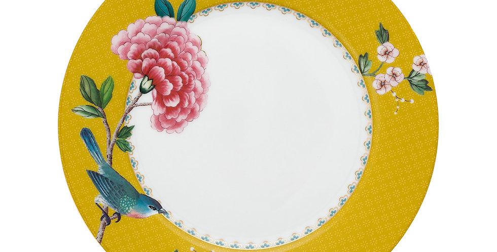Prato de Sobremesa Amarelo - Blushing Birds