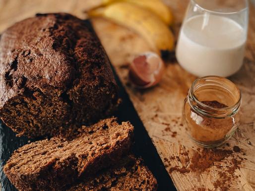 Healthy Banana Bread με αλεύρι ολικής