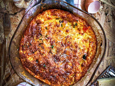 Frittata με λαχανικά & μπέικον