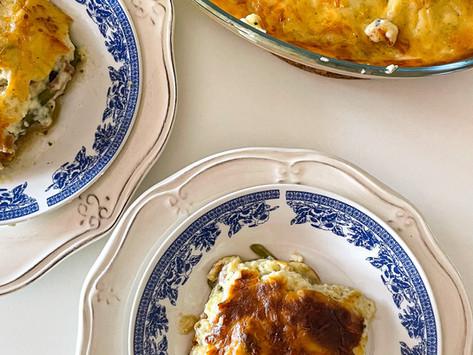 Λαχανικά στον φούρνο με ελαφριά μπεσαμέλ