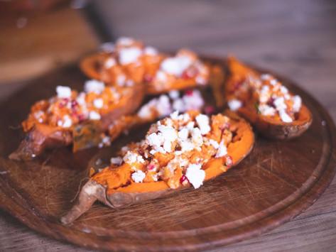 Γεμιστές γλυκοπατάτες με κατσικίσιο τυρί Κοφινάκι Βαλμά