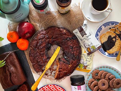 Healthy cake με μέλι, κακάο & μπανάνα
