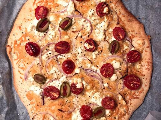 Γρήγορη σπιτική πίτσα χωρίς φούσκωμα