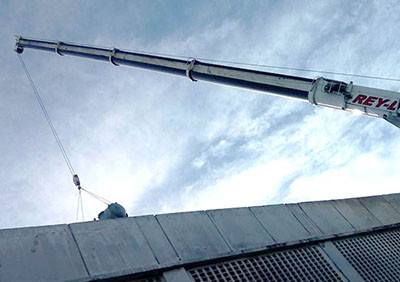 lattice boom truck mounted crane rental