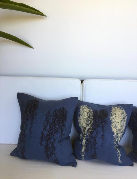 spanish moss linen pillow