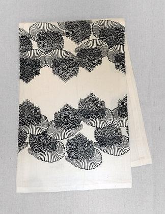 MUSHROOM PRINT TEA TOWEL