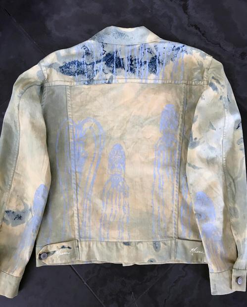 ochre squid denim jacket