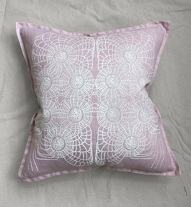 DUSTY PINK SCALLOP PILLOW