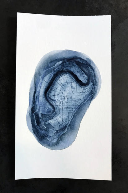 watercolor oyster print
