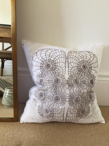 scallop printed pillow