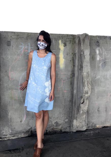 spotted drip mushroom dress
