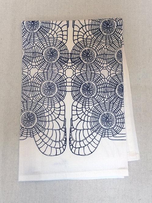 SCALLOP PRINT TEA TOWEL