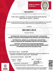 Groupe RG ISO 9001:2015 certificate