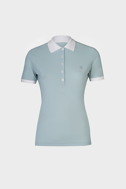 Cavalleria Toscana Jersey Polo with Zip Pocket