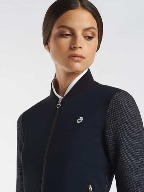 Cavalleria Toscana Mesh Knit Jersey Cardigan
