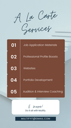 Multify's A La Carte Services
