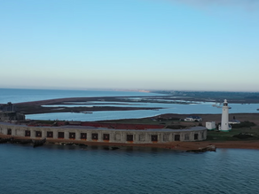 Stunning aerial view of Hurst Castle