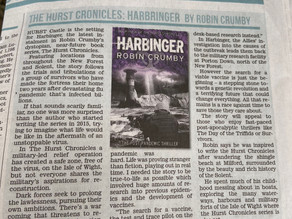 Harbinger: book four reviewed in The Lymington Times