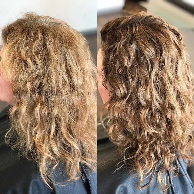 Madison combined a _mydevacurl cut with the power of _paulmitchellus ColorXG to renew Tracey's hair!