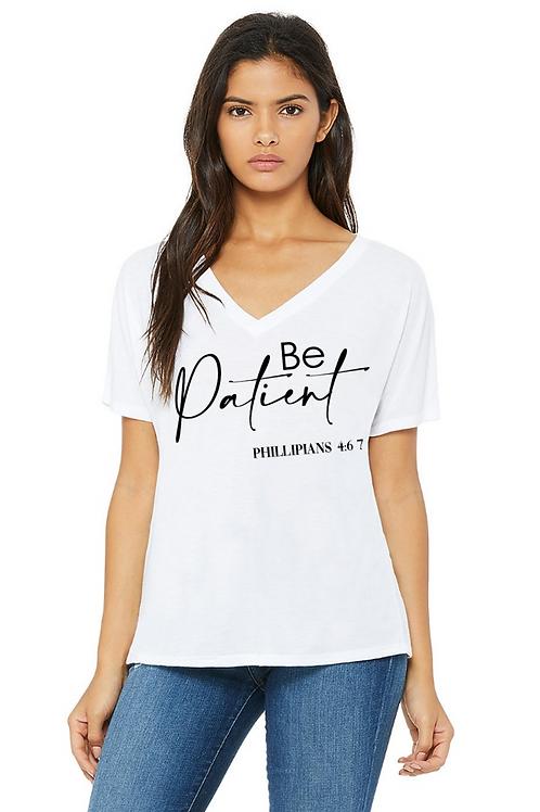 Ladies cotton V-Neck T-Shirt