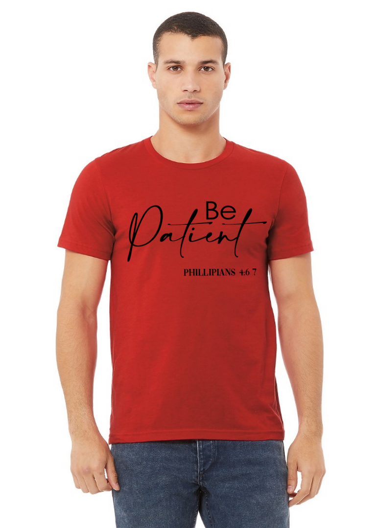 Be Patient red  blue crew Neck Web.png