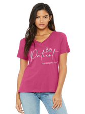Be Patient pink gray v Neck Web.png