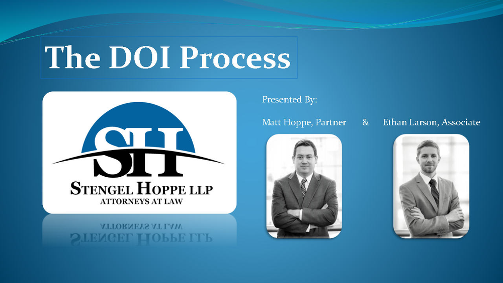 The Doi Process The Nuts And Bolds Of Building Modifying And Updating A Typical Title Opinion Doi