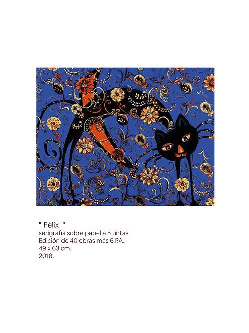 Carpeta de Serigrafía. 4 Gatos. Gabriela Catarinella