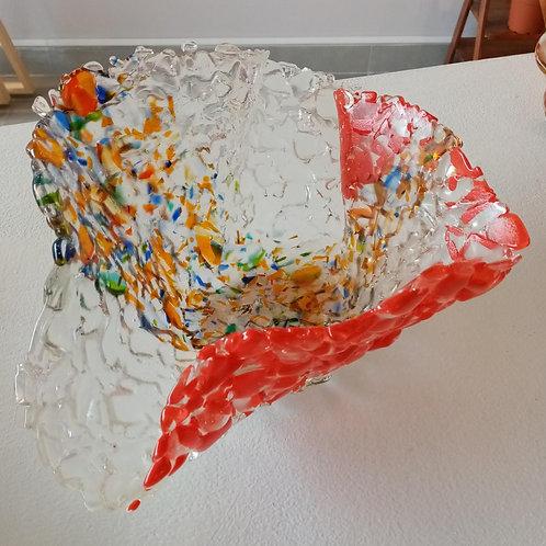 Frutero transparente y colores