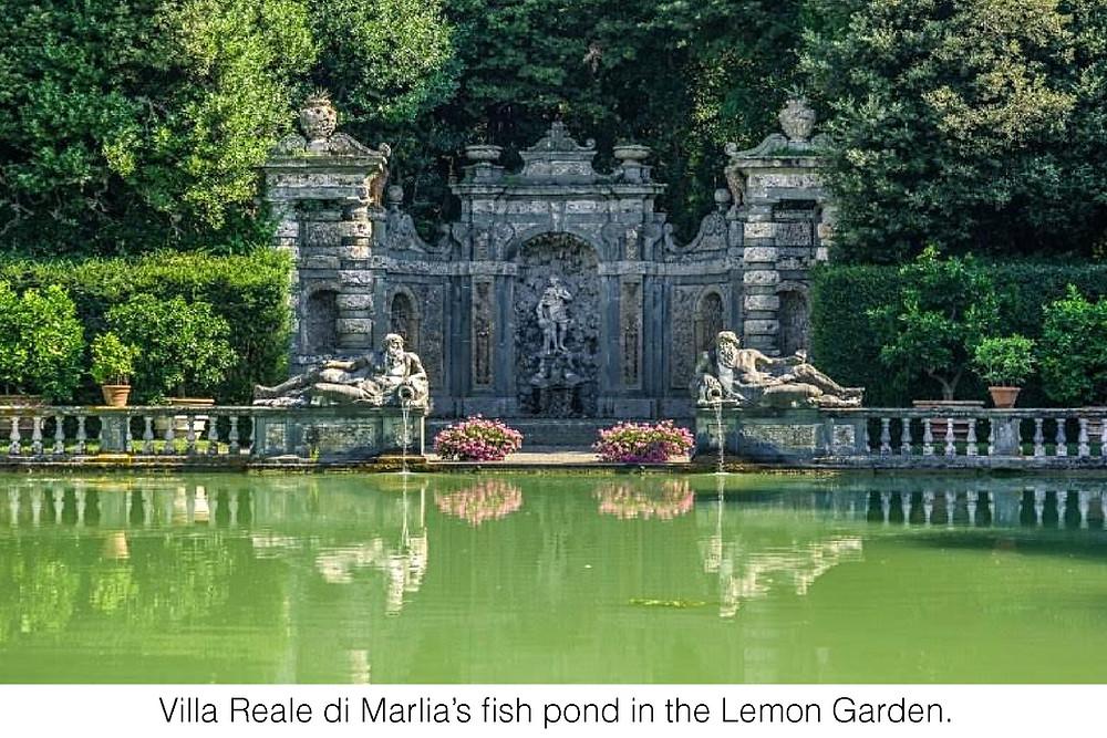 Villa Reale di Marlia's fish pond in the Lemon Garden.