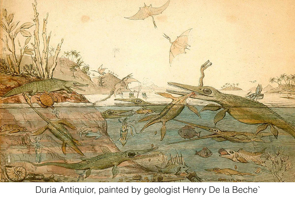 Duria Antiquior, painted by geologist Henry De la Beche`
