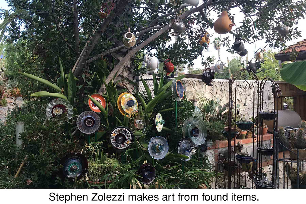 Stephen Zolezzi makes art from found items.