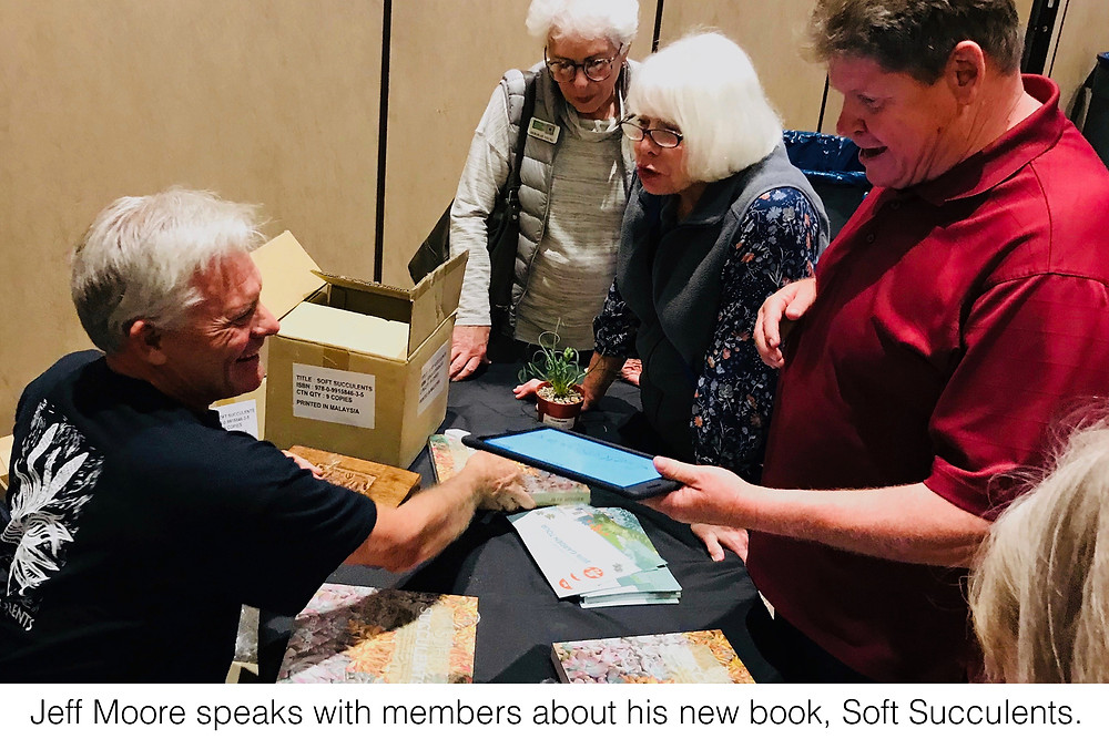 Jeff Moore speaks with members about his new book, Soft Succulents.