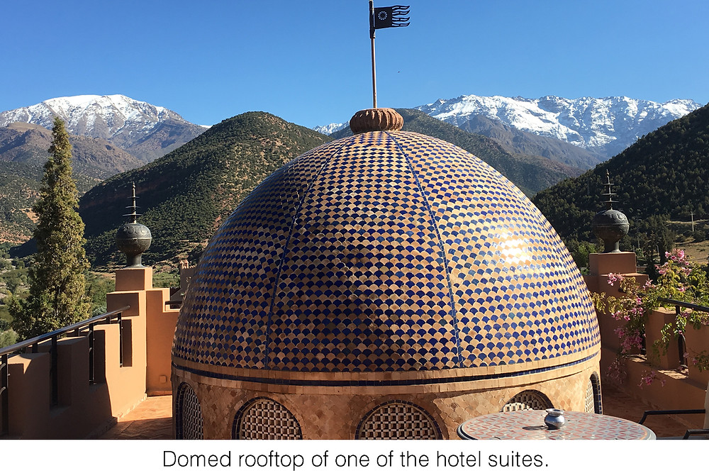 Domed rooftop of one of the hotel suites.