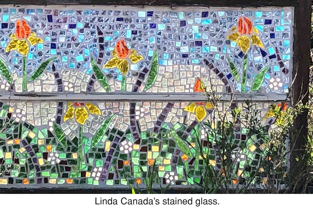 Linda Canada's stained glass.