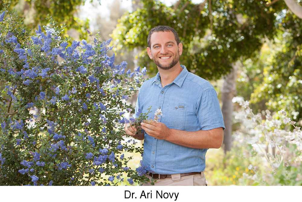 Dr. Ari Novy replaces Julian Duval at the San Diego Botanic Garden. Image courtesy of the San Diego Botanic Garden.