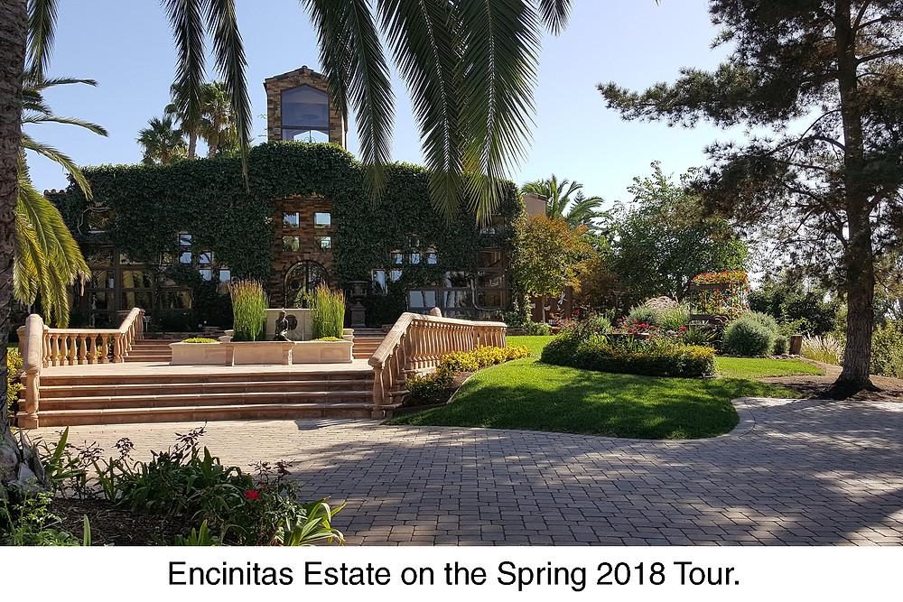 Encinitas Estate on the Spring 2018 Tour.