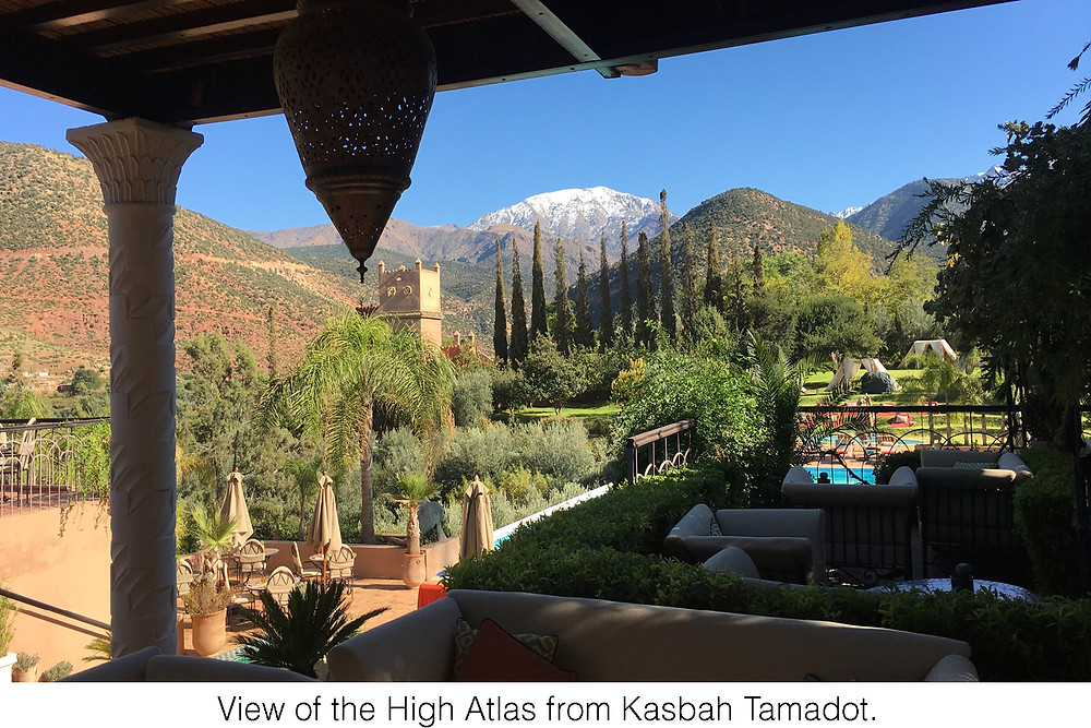 View of the High Atlas from Kasbah Tamadot.