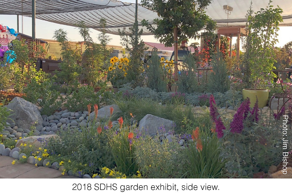 2018 SDHS garden exhibit, side view. Image courtesy of Jim Bishop.