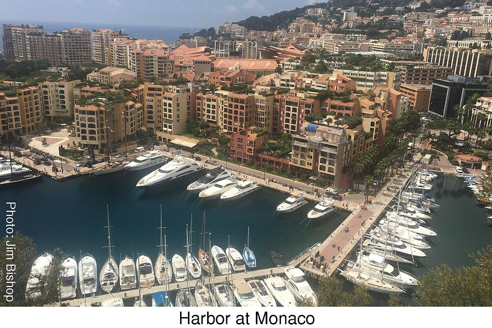 Harbor at Monaco.  Photo by Jim Bishop