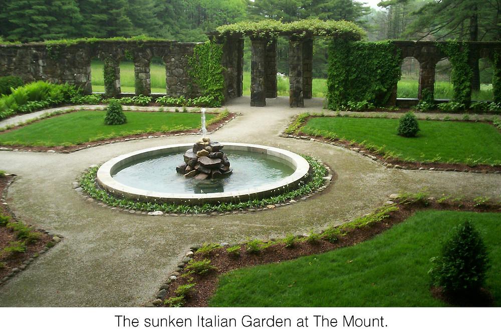 The sunken Italian Garden at The Mount.