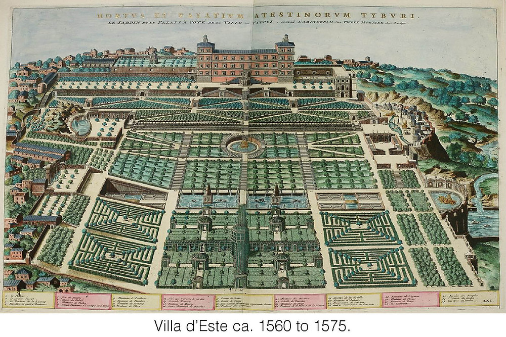 Villa d'Este ca. 1560 to 1575.