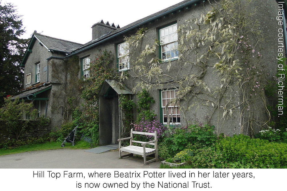 Hill Top Farm, where Beatrix Potter lived in her later years, is now owned by the National Trust. Image courtesy of Richerman.