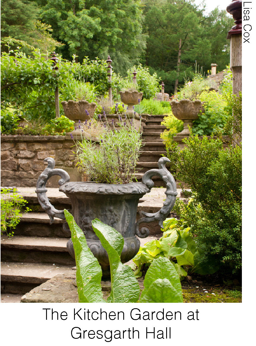 The Kitchen Garden at Gresgarth Hall. Image courtesy of Lisa Cox.