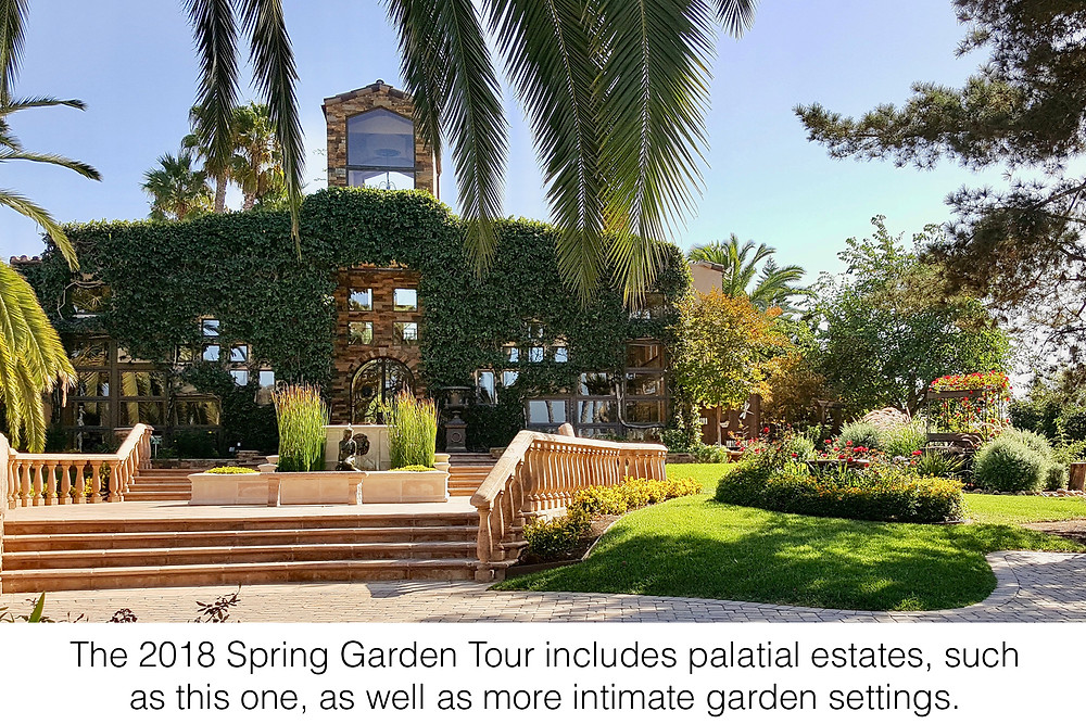 The 2018 Spring Garden Tour includes palatial estates, such as this one, as well as more intimate garden settings.