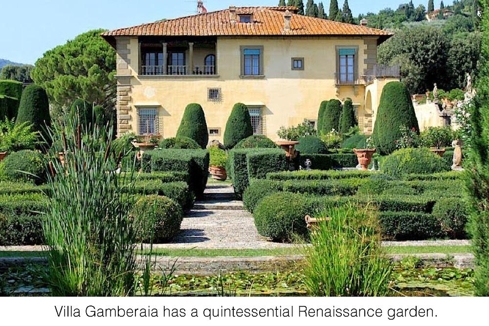 Villa Gamberaia has a quintessential Renaissance garden.